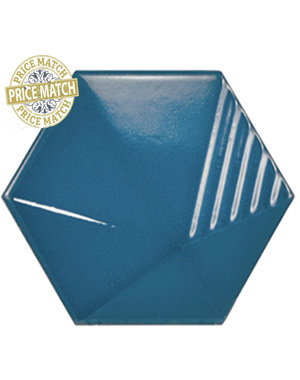 Luxury Tiles 3D Atlantis Blue Honeycomb Hexagon Tile