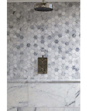 Luxury Tiles Authentic Calacatta Honed Marble Hexagon Tile