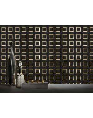 Luxury Tiles Black Nero Marble Effect Gold Mosaic Tile