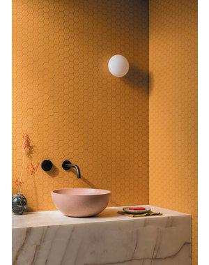 Luxury Tiles Yellow Matt Hexagon Mosaic Tile