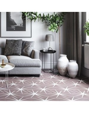 Ca' Pietra Lily Pad Plum Encaustic Tile