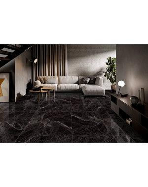 Luxury Tiles Elegant Black High Polished 60x120cm Tile