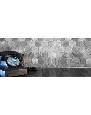 Luxury Tiles Driftwood Stone Hexagon Mosaic Tile
