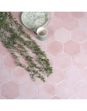 Luxury Tiles Medina Hexagon Rosa Matt Porcelain Tile