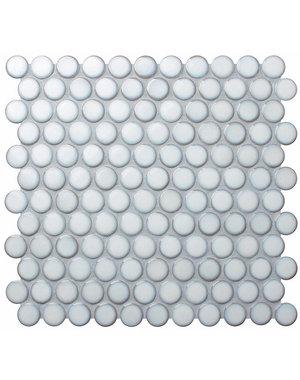 Yoga Penny White Mosaic Porcelain Tile