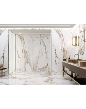 Gold Marble Effect 600x1200mm Tile