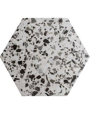 Terrazzo Hexagon Cloud Porcelain Tile
