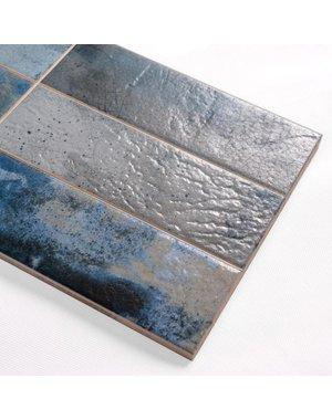 Denim Blue Textured Wall Tile