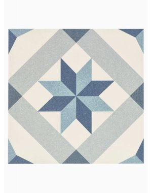 Luxury Tiles Yorkshire Blue Pattern Floor and Wall Tile