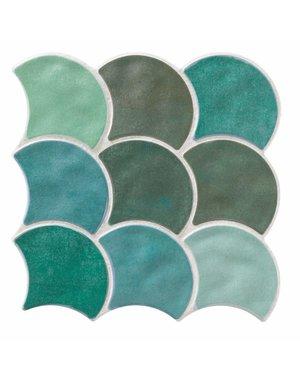 Luxury Tiles Drops Blue Mix Mosaic Tile