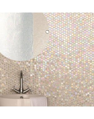 Luxury Tiles Iridescent Pearl Penny Mosaic Tile