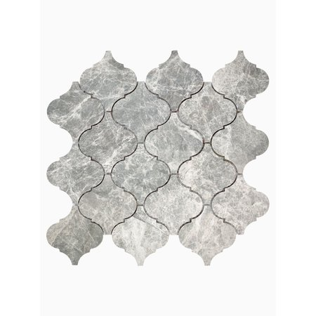 Luxury Tiles Misty Grey Marble Drops Mosaic Wall and Floor Tile