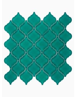 Luxury Tiles Isodore Jade Green Drops Mosaic Tile