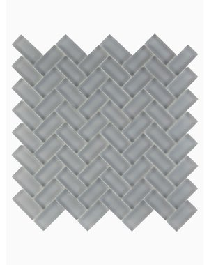 Luxury Tiles Isodore Storm Grey Herringbone Mosaic Tile