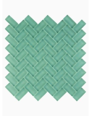 Luxury Tiles Isodore Mint Green Herringbone Mosaic Tile