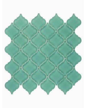 Luxury Tiles Isodore Mint Green Drops Mosaic Tile