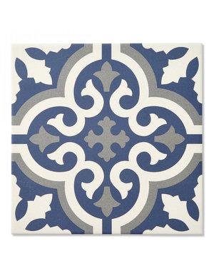 Luxury Tiles Manor House Blue Pattern Tile