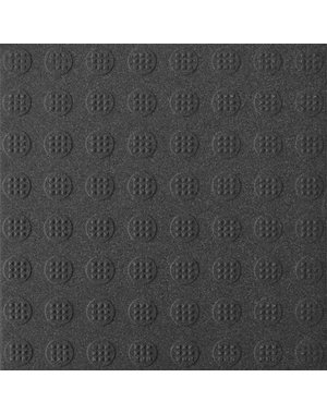 Luxury Tiles Commercial Circular Stud Black Anti-Slip Floor Tile