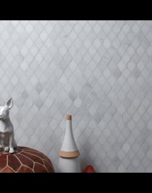 Luxury Tiles Long Island Marble Honed Teardrop Mosaic