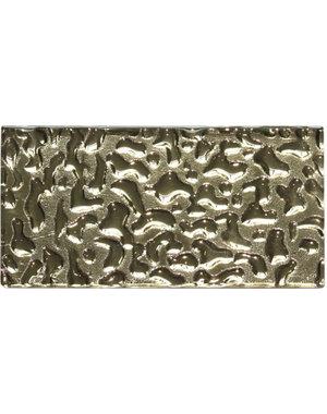 Luxury Tiles Shimmer Gold Structured Mini Metro Tile 7.5x15cm