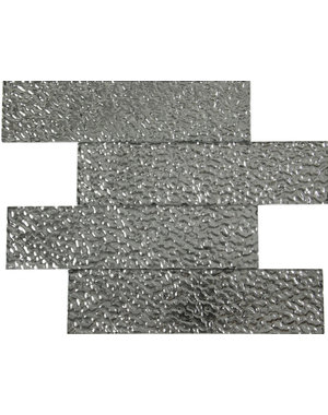 Luxury Tiles Shimmer Silver Structured Metro Tile 75x300mm