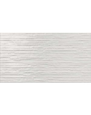 Luxury Tiles Wave Decor White Structured Tile