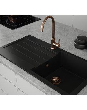 Comite Comite Single Bowl Black Kitchen Sink