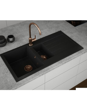 Comite Comite 1.5 Bowl Black Kitchen Sink
