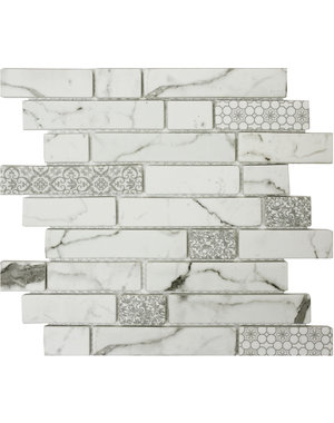 Luxury Tiles Marble Effect Decor Brick Glass Mosaic Tile