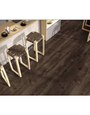 Luxury Tiles Traditional Dark Brown Wood Effect Floor Tile