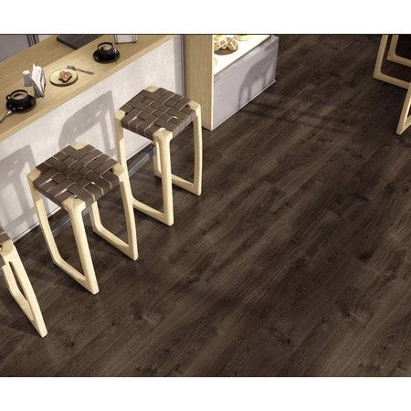 Luxury Tiles Traditional Dark Brown Wood Effect Floor Tile 120x23.3cm