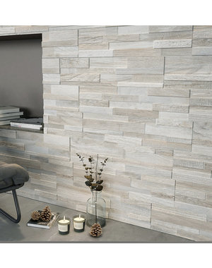Luxury Tiles Timber Light Split Face Porcelain Tile