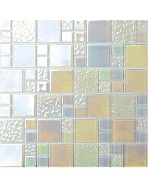 Luxury Tiles Fantasy Pearl Square Mix Mosaic Tile