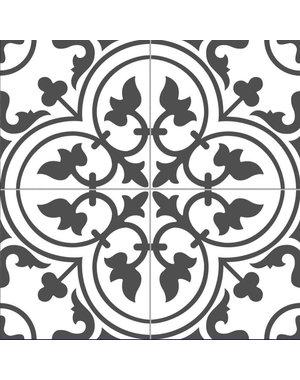 Luxury Tiles Charter Black Pattern 450x450mm Tile