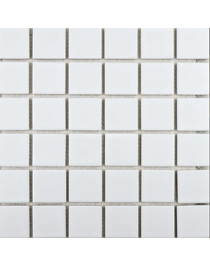 Luxury Tiles White Square Mosaic 30x30cm Tile
