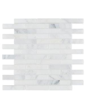 Luxury Tiles Carrara Marble Honed Brick Mosaic 300x350mm Tile