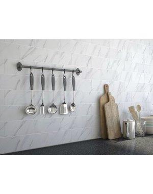 Luxury Tiles Metro Carrara Marble Effect Gloss Wall Tile