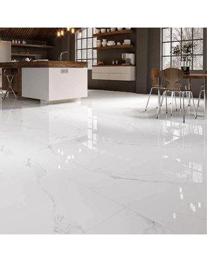 Luxury Tiles Carrara Marble Effect Gloss Tile 1000x1000mm