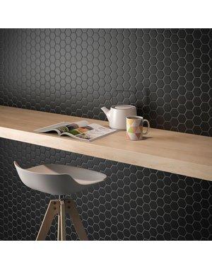 Luxury Tiles Microhex Black Matt