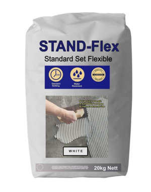 Luxury Tiles White Standard Flex Tile Adhesive 20KG