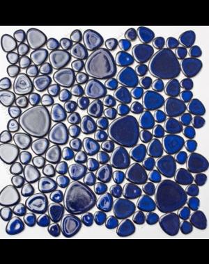 Luxury Tiles Pebble Blue Ceramic Mosaic Tile