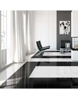 Luxury Tiles Mayfair Black Diamond Gloss 60x60cm Wall and Floor Tile