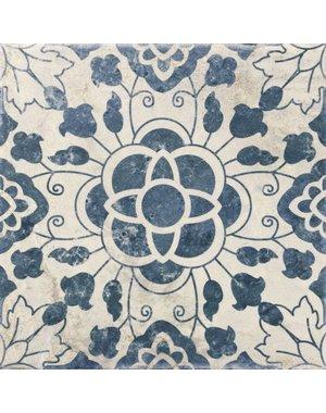 Luxury Tiles Casablanca Vintage Blue Mixed Pattern Tile