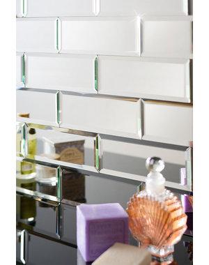 Luxury Tiles Dior Glass Mirror Brick Metro 75x200mm Tile
