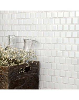Luxury Tiles White Square Mosaic Tile