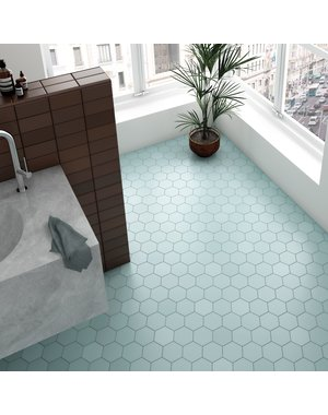 Luxury Tiles Royal Hex Blue Porcelain Floor and Wall Tile
