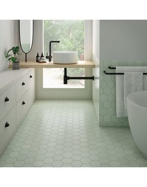 Luxury Tiles Royal Hex Green Porcelain Floor and Wall Tile