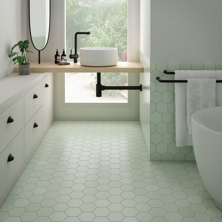 Luxury Tiles Royal Hexagon Green Porcelain Floor and Wall Tile