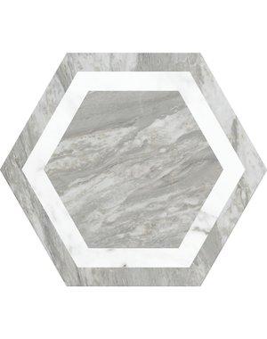 Chateau Décor Grey Hexagon Marble Tile