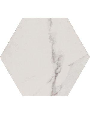 Luxury Tiles Carrara White Marble Effect Satin Hexagon Tile